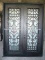 Desenhos porta de ferro forjado freon made in China fábrica