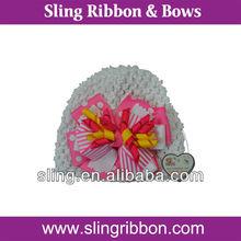 New Born Baby Hair Bows on the Crochet Hats
