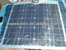 75w mono crystalline flexible solar cell panel