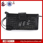 2013 Trendy Casual Style Black Woven Bag Ladies Clutch Purse