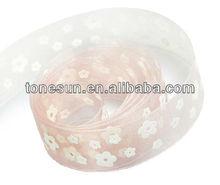 China hot Peach Pink Wholesale Celebrate it DecoratIve Ribbon Flowers For Wedding Decoration