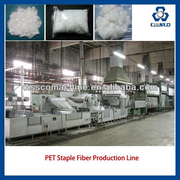 Geri dönüştürülmüş polyester elyaf üretim hattı, pet elyaf yapma makinesi, polyester elyaf makinası