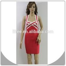 2014 red strap girls bodycon bandage dress nov 11 shopping carnival dress