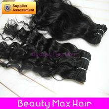 Brazilian virgin hair french curl natural color hair weaving