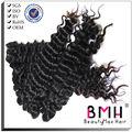 Beautymax pelo 5A onda profunda del color natural brasileño de la virgen del pelo handtied extensión kerastase productos para el cabello