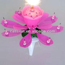 Fancy rotating flower birthday music Candle firework