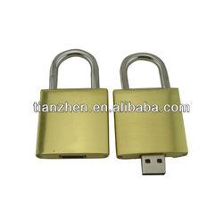 Encryption optional Lock shape metal usb flash drive