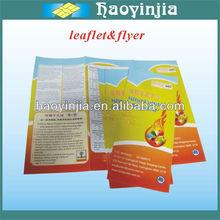 OEM sample printing leaflets
