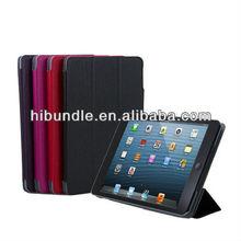New Plum PU Leather Cover Case Flip Book Folio for ipad Mini