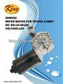 Zdm052 motor del limpiaparabrisas para toyota camry, universal del motor del limpiaparabrisas