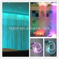 Coloridos de plástico decorativo de luz óptica fibras, lado apontado emissores de fibra, brilho de fibra óptica