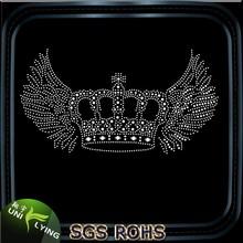 Hotfix crystal rhinestone crown design for garment