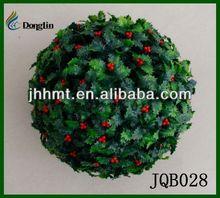 Latest Artificial Topiary Grass Ball Holly Ball for Christmas Decor 30CM