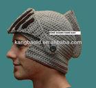 2015 new design Crocheted knight's helmet beanie