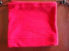 winter 1 layer polyester micro fleece adjustable neck warmer hood