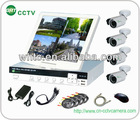 4ch D1 H.264 CCTV camera home security system with 420TVL ir waterproof camera (GRT-D6004MHK1-4CT)