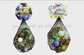 Bolas de vidrio mezclado con el embalaje, 1 kilogramos de mármoles de juguete, bola de cristal