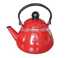the red enamel Tea kettle 315D