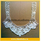 cotton embroidery garment collar neck designs, cotton water soluble neckline applique