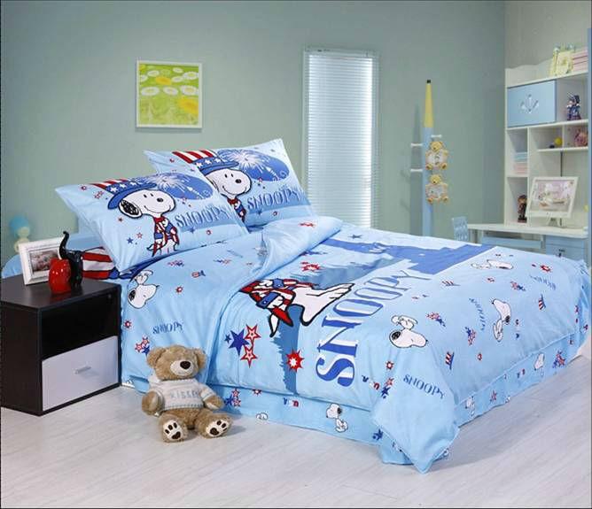 snoopy niños bebé de dibujos animados conjuntos de ropa de cama ...