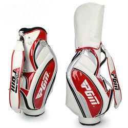 quality pu new design oem golf bag white red fashion FLTF10004