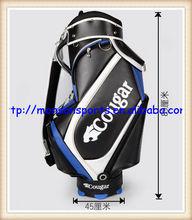 quality pu new design colorful golf bag black white fashion