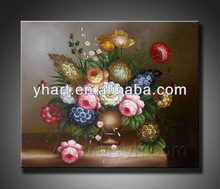 Modern abstract flower painting for wall decor