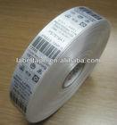 fashion barcode printing label fabric