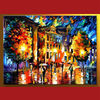 Modern cityscape oil painting