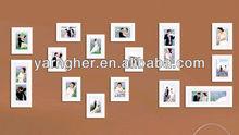 "creative ""5x7"" 4x6"" magnetic plastic wall photo frame set"