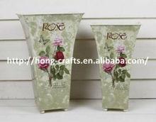 Pink rose vintage vases and plant pots for wholesale garden decor