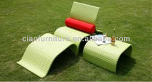 T-foshan large size rattan furniture chaise lounge for sale 2051LC+2051F+2051E