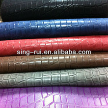 Good Price Of 0.7mm 100% Crocodile PU Leather For Bags