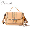 Custom made Brown Roman style ladies vintage leather bag wholesale