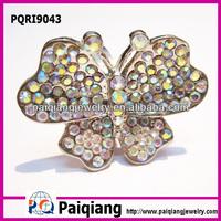 Designer diamond jewelry crystal napkin butterfly ring