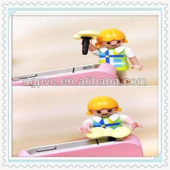 full lace ,mobilephone dust stopper, rose flower anti dust plug for phone