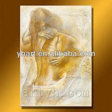 Modern handmade nude woman people art painting