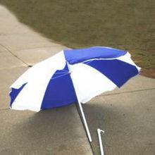 BEACH UMBRELLA BLUE AND WHITE LARGE SUMMER LAKE PARK TRAVEL SHADE SUN Umbrella ADJUSTABLE
