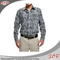 100% cotone bello- guardando manica lunga abito da uomo camicie hawaiane modelli