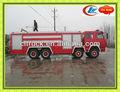 Duplo- cab shacman/steyr de combate a incêndio do motor, pó de bombeiros