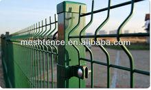 Green Powder coated plastic garden fence panels
