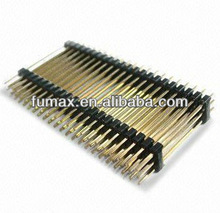 PCB design, PCB Connector, 2.54mm Pitch Triple Rows Pin Header in Straight Type, Measuring 2.54 x 7.5mm