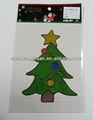 2014 ornamento de la navidad, Pvc ventana stick stick