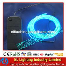 EL lighting wires blue color with sound active battery inverter