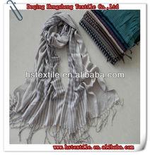 woman fashion soft viscose check stripes pashmina shawl