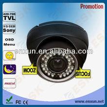 Sony 700tvl Effio DSP 2.8-12mm Varifocal IR 40M 0.001 lux OSD 700tv line dome camera