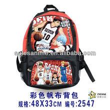 Wholesale High Quality New Fashion Anime DesignKuroko no Basuke Backpack School Bags