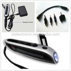 Solar Power Hand-Winding Crank Dynamo 3 LED Flashlight Torch +FM Radio +Charger
