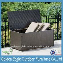 PE rattan & aluminum outdoor storage boxes