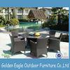 PE rattan & aluminum outdoor & indoor six seats Dia1500mm round table